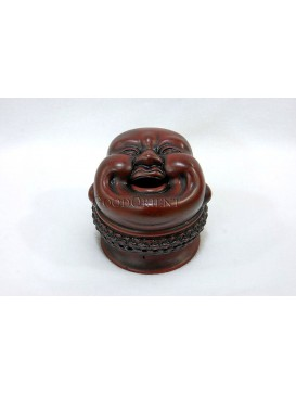 Purple Clay Smiling Maitreya Incense Burner