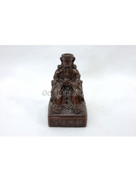 Purple Clay Incense Burner- The God Of Wealth