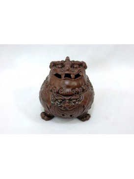 Purple Clay Incense Burner-Powerful Lion