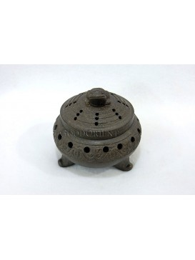 Purple Clay Incense Burner-A Lucky Toad