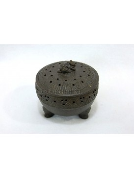 Purple Clay Three-legged Incense Burner
