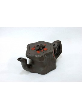 Plum Blossom Root Purple Clay Teapot