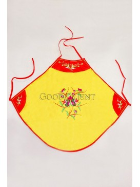 Yellow Embroidered Floral Silk Dudou