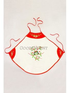White Embroidered Floral Silk Dudou