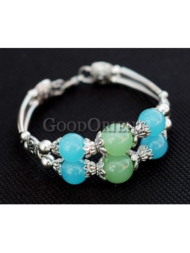 Dazzling Beads And Silver Bracelet