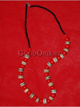 Red And Black Beaded Necklace