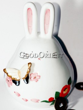 Porcelain Piggy Bank-Rabbit