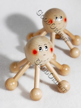 Happy Smile Wooden Massage Tool