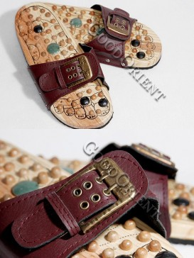 Therapeutic Massage Shoes-Wine Red