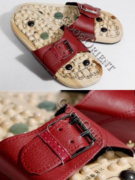 Therapeutic Massage Shoes-Dark Red