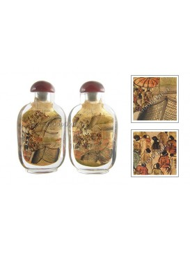 Riverside Scene at the Pure Moon Festival Snuff Bottle