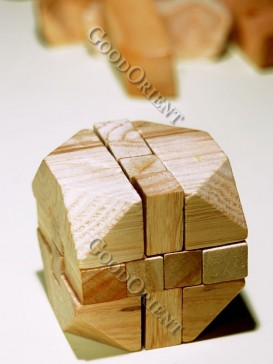 Twelve Wooden Intelligent Building Block