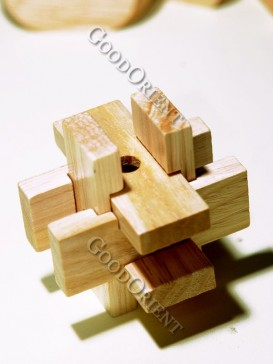 Six Wooden Intelligent Building Block