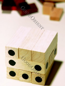 Nine Wooden Intelligent Building Block