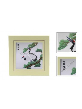 Chinese Crane and Pine Embroidery