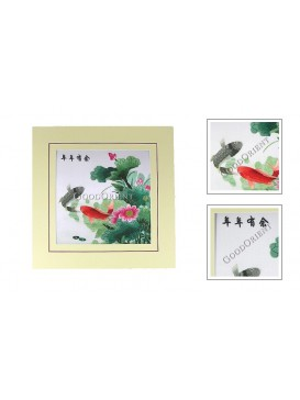 Chinese Golden Fish and Lotus Embroidery