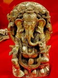 Tibetan silver Elephant God Of Wealth Statues