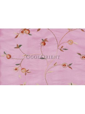 Embroidered Thai silk Fabric