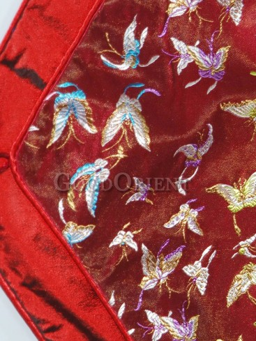 Deep Red Butterfly Table Runner