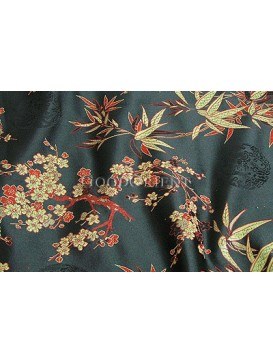 Bamboo and Plum Blossom Fabric