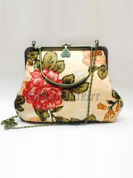 Beautiful Peony Beads Handbag