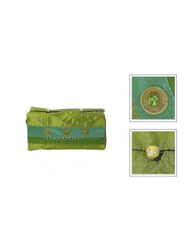 Embroidered Tissue Holder---Green