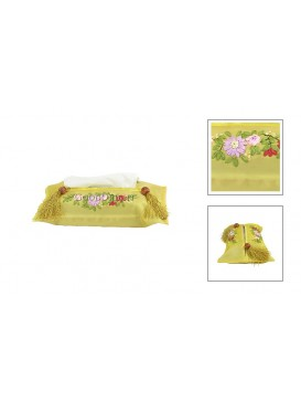 Handsewing Flower Tissue Cover---Yellow