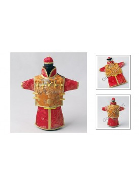 Chinese Qing Dynasty Suit Bottle Holder---Red