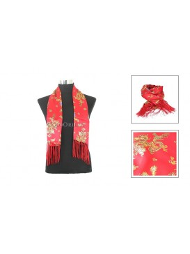 Chinese Double-Faced Silk Men Scarf---Dragon Pattern