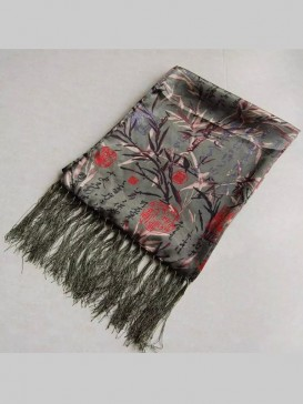 Chinese Double-Faced Silk Men Scarf