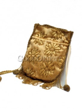 Golden Beaded Bag