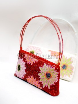 Big Flowers Beaded Bag