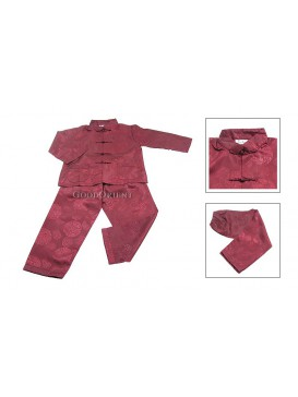 Chinese Kung Fu Matching Set---Dark Red
