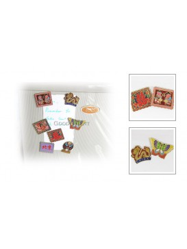 Cloisonne Refrigrator Magnets---Double Happiness