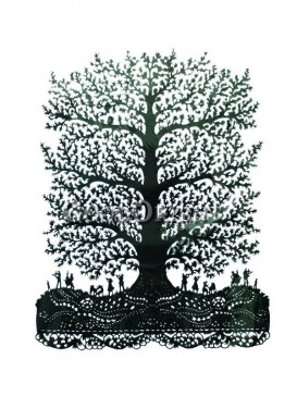 Great Tree Papercut
