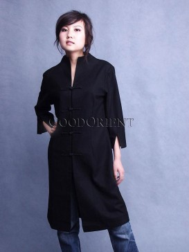 Oriental Black Chinese Coat