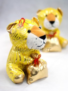 Golden Lucky Tiger Hanging Decoration For The New Years