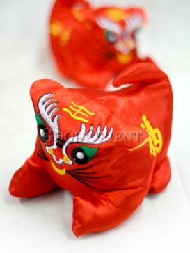 The Peaceful Red Tiger For The New Year
