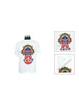 Blue Bearded Chinese Opera Mask T-shirt