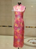 Pink Peony Silk Brocade Dress