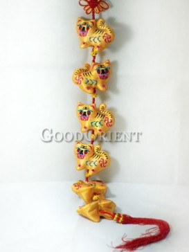 Yellow Tigers Hanging Decoration