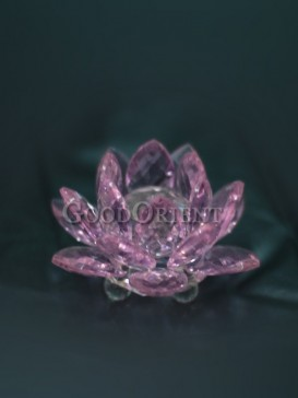 Pink Water Lily Crystal Decoration
