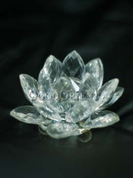 Black Water Lily Crystal Decoration