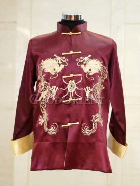 Double Embroidery Dragon Shanghai Tang Jacket