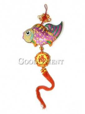 The Pink Fish Textile Hanging Decoration