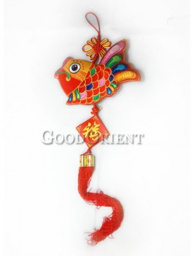 The Red Fish Textile Hanging Decoration