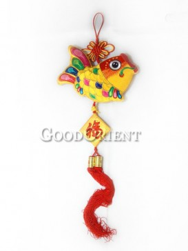 The Yellow Fish Textile Hanging Decoration