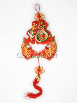 Good Blessing Fish Textile Hanging Decoration