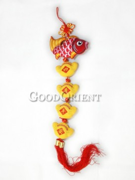 The Peaceful Fish Textile Hanging Decoration
