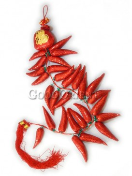 Hot Pepper Textile Hanging Decoration